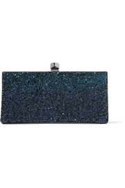Celeste small dégradé glittered leather clutch