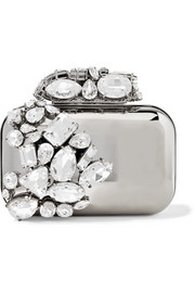 Jimmy Choo Cloud crystal-embellished metal clutch