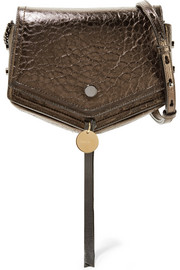 Jimmy Choo Arrow metallic textured-leather shoulder bag