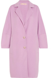 Oversized wool, alpaca and cashmere-blend coat