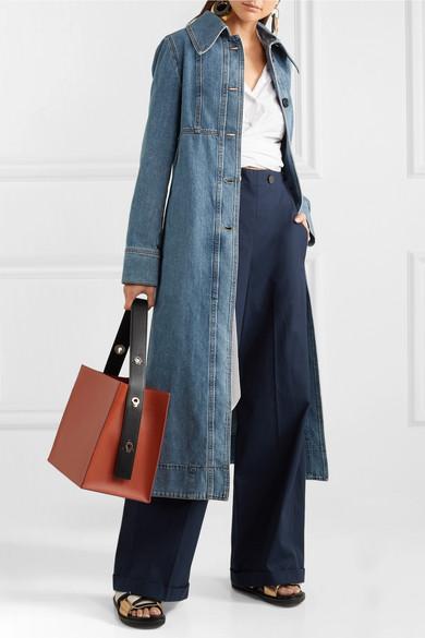 Marni | Belted denim coat | NET-A-PORTER.COM
