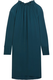 Marni Gathered crepe de chine mini dress