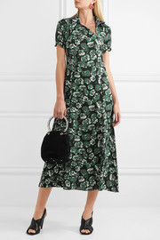 Marni Floral-print crepe midi dress