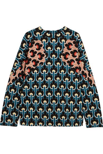 Marni - Jacquard-knit Cotton-blend Sweater - Blue