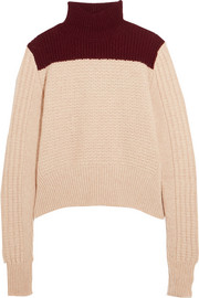 Marni Two-tone alpaca-blend turtleneck sweater