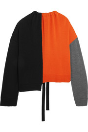 Marni Oversized color-block wool sweater