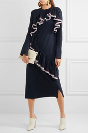 Marni Ruffled knitted midi dress