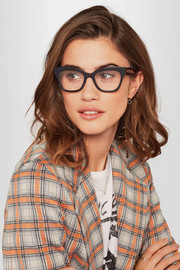 Gucci Cat-eye embellished acetate optical glasses