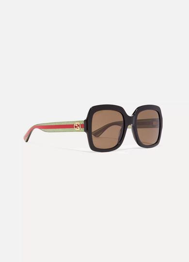 Gucci Oversized Square Sunglasses  gucci oversized square frame glittered acetate sunglasses net