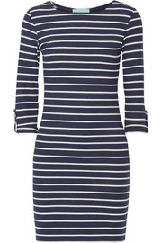 Melissa Odabash Maddie striped ribbed stretch-jersey mini dress