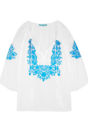Rihanna embroidered voile blouse