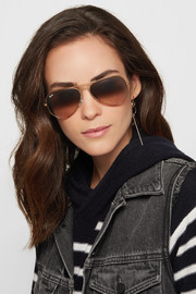 Aviator bronze-tone sunglasses