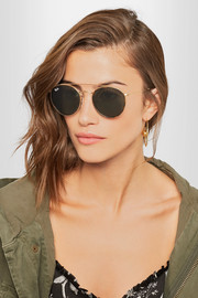 Ray-Ban Round-frame gold-tone and tortoiseshell acetate sunglasses