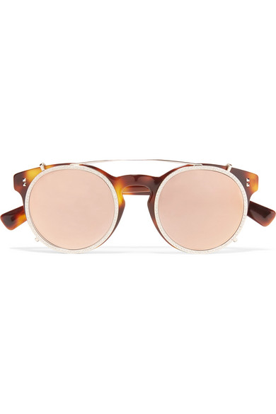 Cat-eye Gold-tone And Acetate Sunglasses - one size Valentino mQYmDMoUEO