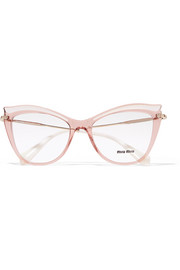 Miu Miu Cat-eye acetate optical glasses