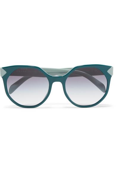 1880ac5c2a9 Prada. Round-frame two-tone acetate sunglasses