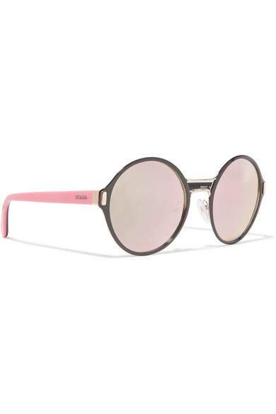 a5a79c8a6e6 Prada Gold Mirrored Sunglasses