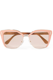 Prada Square-frame acetate and gold-tone sunglasses