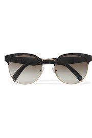 Prada Round-frame acetate and gold-tone sunglasses