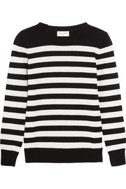 Saint Laurent Striped cashmere sweater