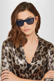 Dolce & Gabbana Square-frame gold-tone and acetate sunglasses