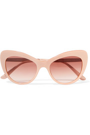 Dolce & Gabbana Crystal-embellished cat-eye acetate sunglasses