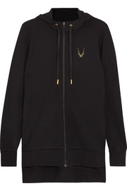 Halo stretch-jersey hooded top