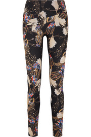 Erte printed stretch leggings