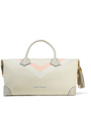 Eddie Harrop Voyager leather-trimmed printed canvas weekend bag