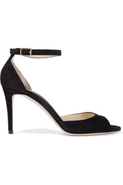 Jimmy Choo Annie 85 suede sandals