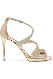 Jimmy Choo Marianne glittered leather sandals