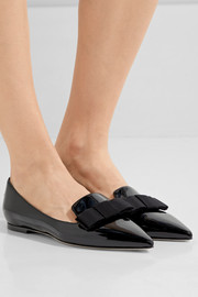 Jimmy Choo Gala patent-leather point-toe flats