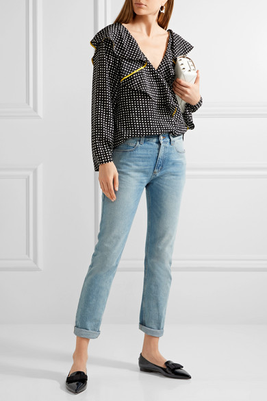 Günstig Kaufen Mode-Stil Erschwinglicher Günstiger Preis Jimmy Choo Gala flache Schuhe mit spitzer Kappe aus Lackleder NycaxmPJU