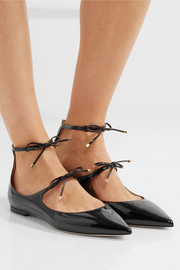 Jimmy Choo Sage patent-leather point-toe flats