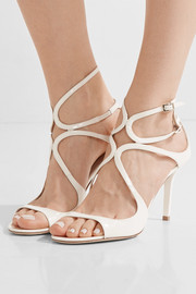 Jimmy Choo Ivette cutout patent-leather sandals