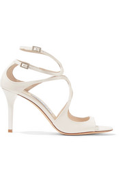 Jimmy Choo Ivette 85 cutout patent-leather sandals