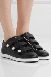 Jimmy Choo NY studded leather sneakers