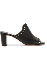 Myla studded leather mules