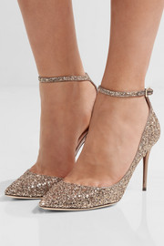 Jimmy Choo Lucy glittered leather pumps