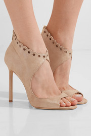 Jimmy Choo Blythe scalloped suede sandals