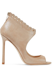 Jimmy Choo Blythe 110 scalloped suede sandals