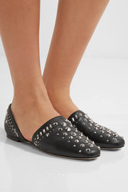 Jimmy Choo Globe studded leather flats