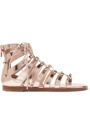 Jimmy Choo Gigi studded metallic leather sandals