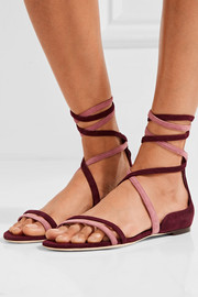 Flynn two-tone suede sandals