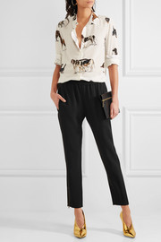 Stella McCartney Tamara crepe tapered pants