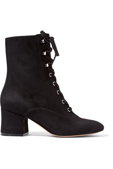 Sergio Rossi Lace Up Suede Boots Gr. IT 41 kDdQidkPM