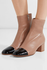 Gianvito Rossi Patent and matte-leather ankle boots