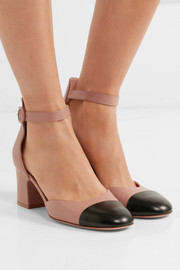 Gianvito Rossi Two-tone leather Mary Jane pumps
