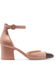 Two-tone leather Mary Jane pumps