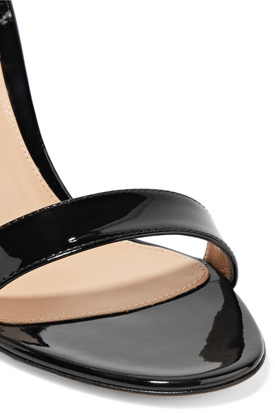 Gianvito Rossi Portofino 85 Sandalen aus Lackleder Auslass Der Billigsten HrXBKC9Cd